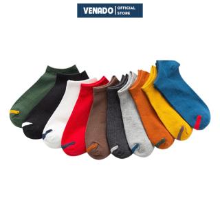 Tất vớ cotton cổ ngắn cho nam và nữ viền mũi phong cách ulzzang hàn quốc Venado thumbnail