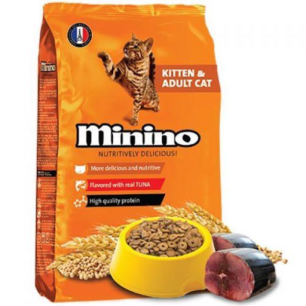 Thức ăn cho mèo vị cá ngừ Minino Tuna 1,3kg của Pháp