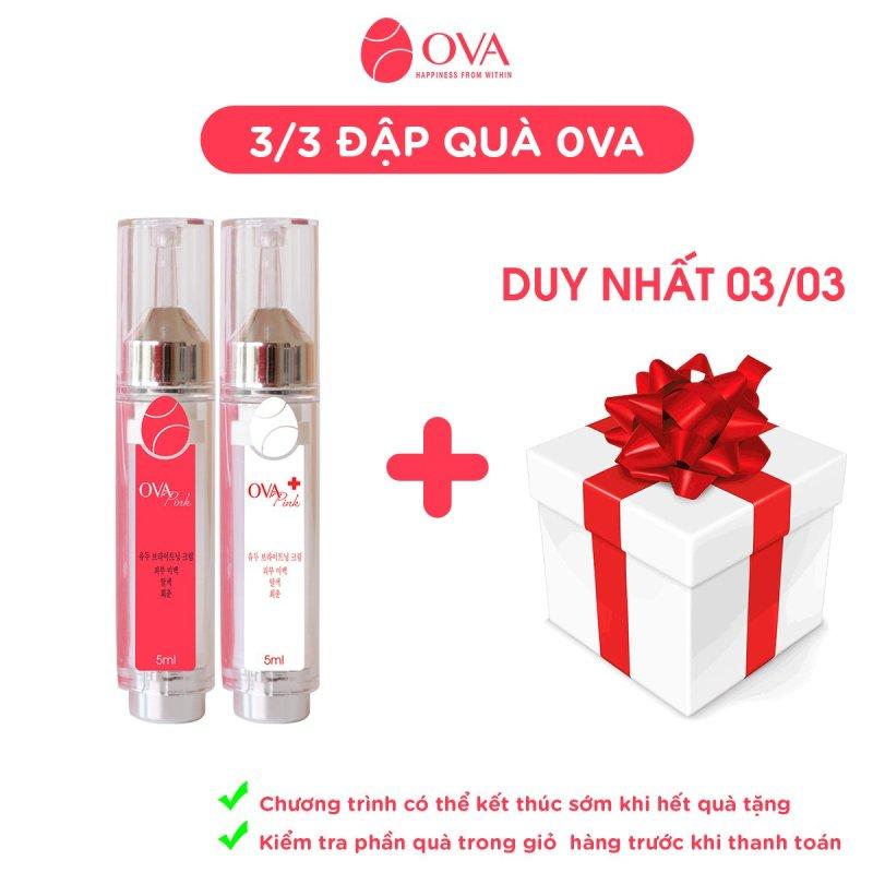 Kem làm hồng nhũ hoa và vùng kín OvaPink, giảm nhanh thâm, ủ dưỡng, làm hồng ti, an toàn và hiệu quả nhanh trong 7 ngày, dung tích 10ml. cao cấp