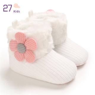 Giày Trẻ Em 27 Bốt Đi Tuyết Đế Mềm Ấm Bằng Nhung Cho 0-18M