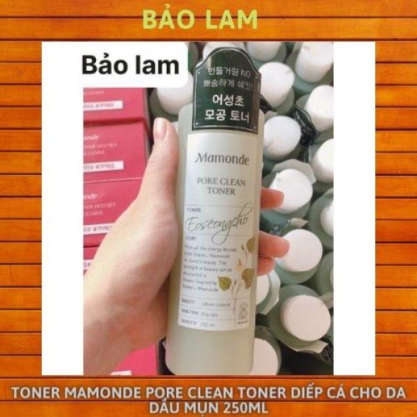 Nước hoa hồng TONER MAMONDE Pore Clean Toner DIẾP CÁ CHO DA DẦU MỤN 250ml