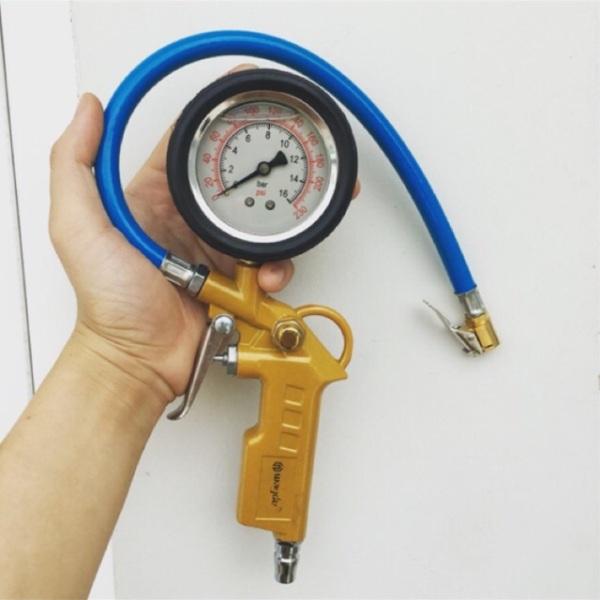 Đầu Vòi Bơm Ô Tô - Xe Máy - Đồng hồ đo áp suất lốp xe ( Có Dầu )