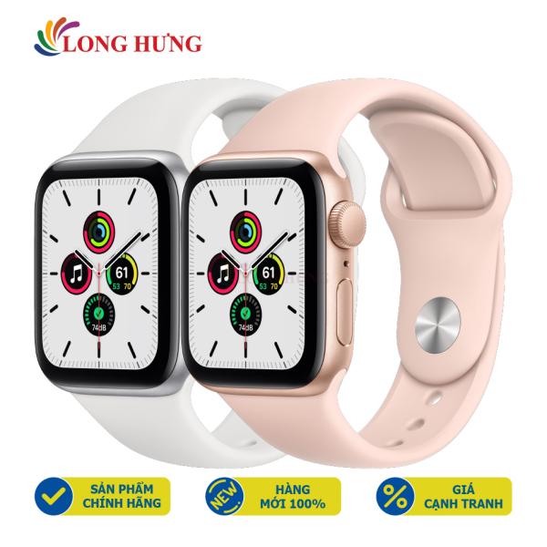 Đồng hồ thông minh Apple Watch SE GPS Aluminum Case Sport Band - Hàng chính hãng - Bộ nhớ trong 32GB, Chống nước chuẩn quốc tế, Gia tốc kế, con quay hồi chuyển, la bàn