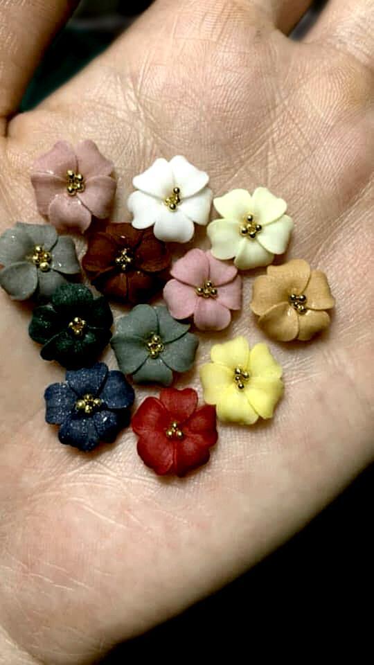 Sản phẩm trang trí móng , vẽ nổi, Nail desige , hoa vẽ nổi. Hoa nổi 4D ,Fantasy ,set 2 hoa theo màu.Hoa dễ bẻ from móng(hàng vẽ tay không đổ khuôn )Mã HN002 tốt nhất