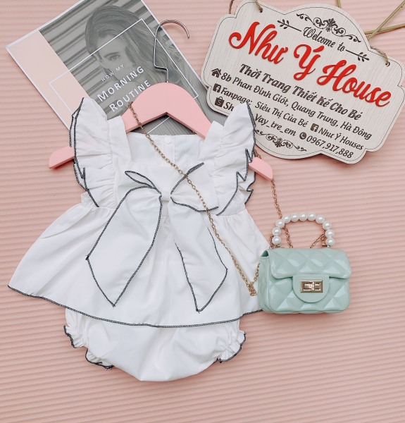 Giá bán Sét bộ váy trắng cho bé gái dễ thương ️🎯FREESHIP ️🎯Set đồ trẻ em THIẾT KẾ💞NHƯ Ý HOUSES