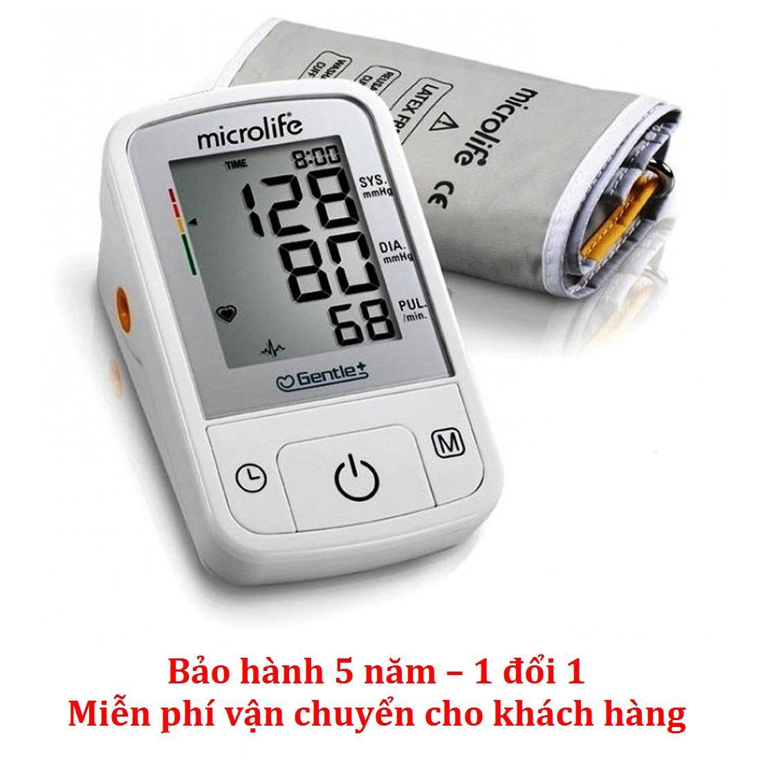 Máy đo huyết áp bắp tay Microlife A2 Basic (Trắng phối xám) bán chạy