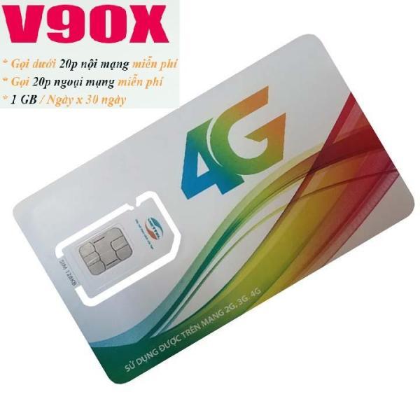 Sim 4G Viettel V90x tặng1GB/ngày - Gọi nội mạng miễn phí ngoại mạng được 20p phí duy trì 90k trên tháng từ MƯỜNG THANH ROYAL