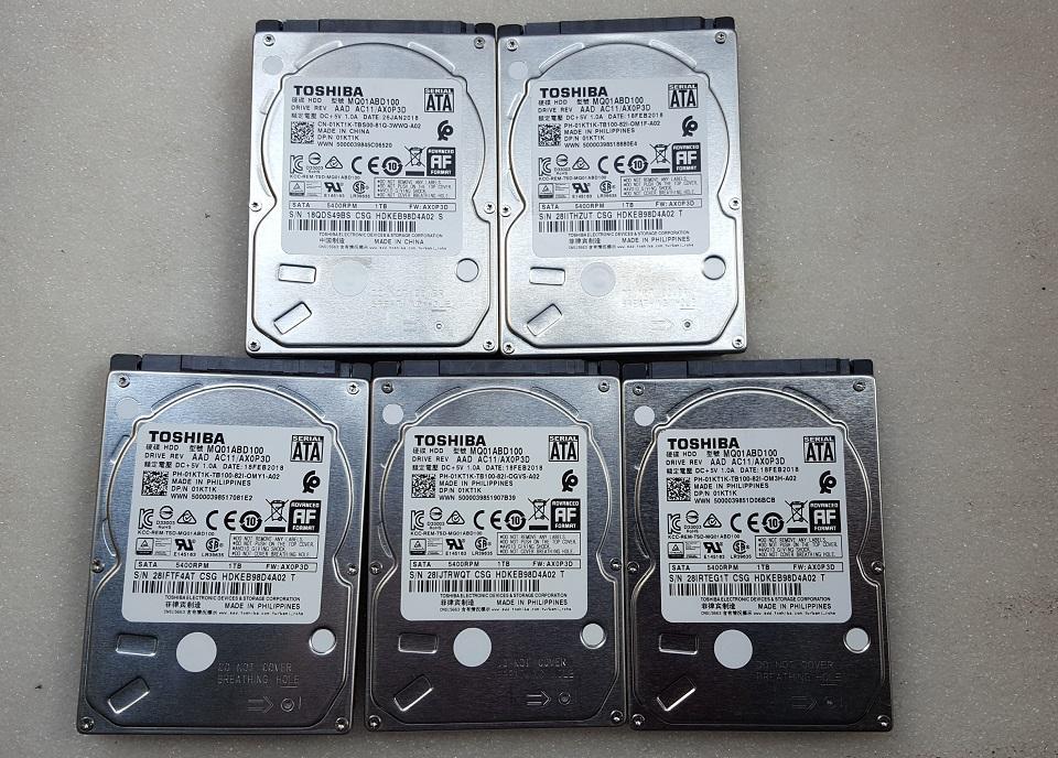 Giá Ổ cứng laptop 1TB, ổ cứng Toshiba 1TB Slim 7mm 2.5inch, ổ cứng zin theo máy