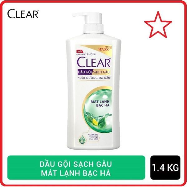 Dầu gội sạch gàu Clear mát lạnh bạc hà 1.4kg cam kết hàng đúng mô tả chất lượng đảm bảo an toàn đến sức khỏe người sử dụng nhập khẩu