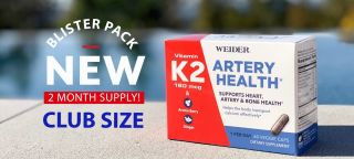 Viên Uống Hỗ Trợ Tim Và Xương Khỏe Mạnh Weider Artery Health Vitamin K2 (60 viên) Mỹ date 3 2022 thumbnail