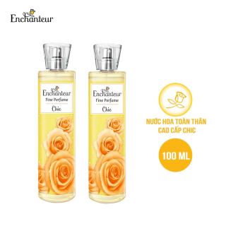 Combo 2 Nước hoa toàn thân cao cấp Enchanteur hương Chic 100ml thumbnail