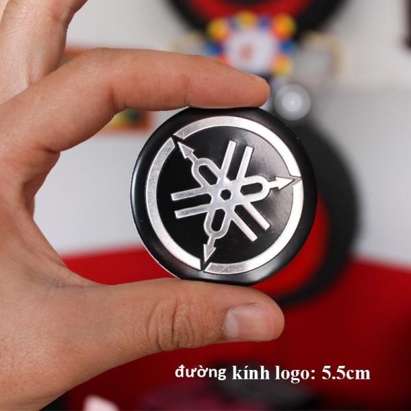 Bộ 2 Logo tròn YAMAHA nhôm Dán keo 3M