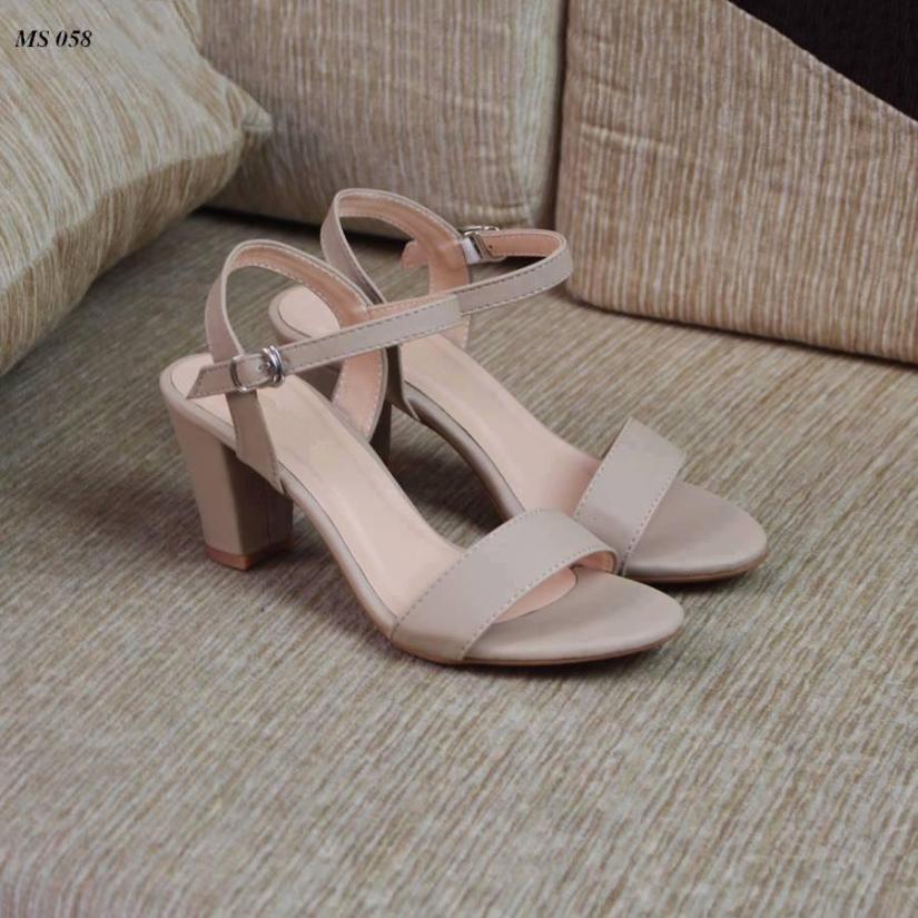 Giày cao gót 7 phân quai xi sáp hở gót LT giá rẻ