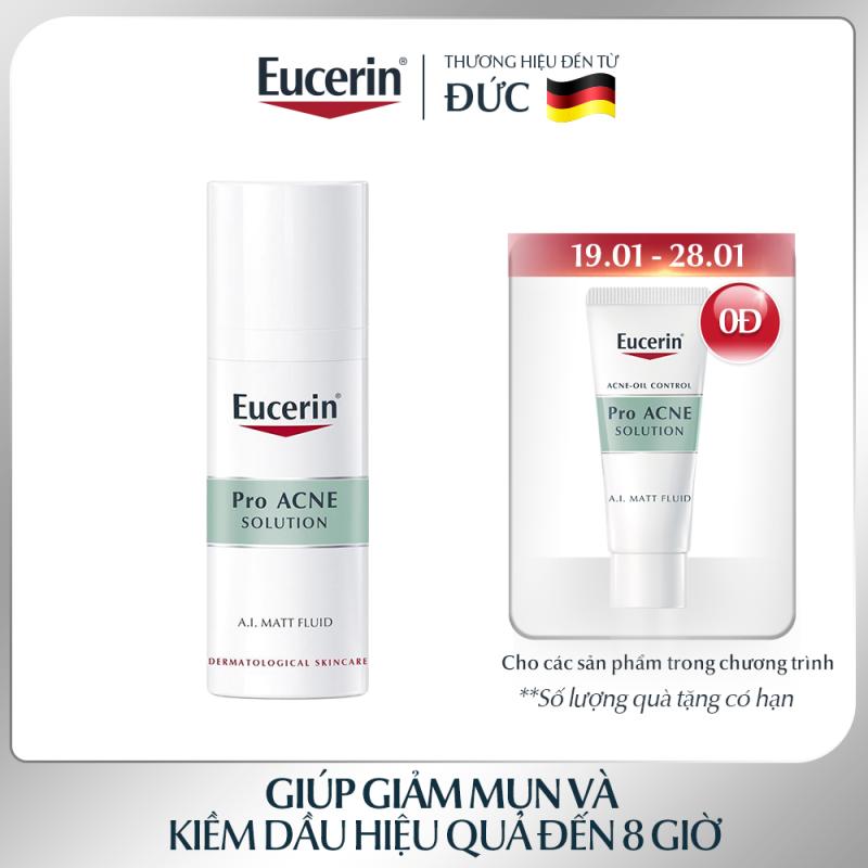 Kem Dưỡng Ẩm Giảm Mụn Và Kiểm Soát Nhờn Eucerin Pro Acne MATT Fluid 50ml giá rẻ