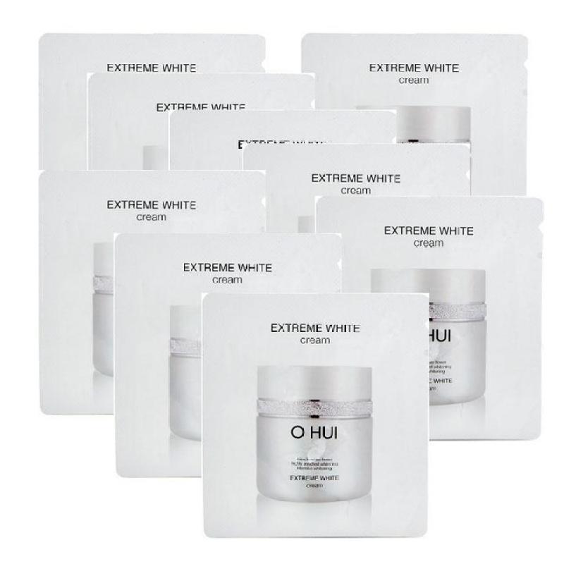 Combo 10 gói Sample Kem Dưỡng Trắng Da Và Chống Lão Hóa Ohui Extreme White Cream 1ml x 10 nhập khẩu