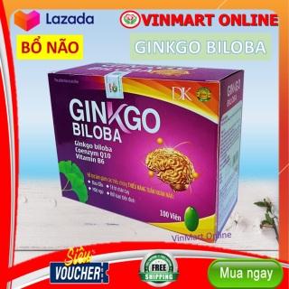Viên Uống Bổ Não Ginkgo Biloba Citicoline, Vitamin B6 giúp bổ não, tăng cường tuần hoàn não, lưu thông mạch máu não,giảm đau đầu, hoa mắt, chóng mặt, mất ngủ thumbnail