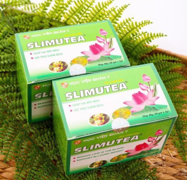 Bộ 2 Trà giảm cân giảm béo Slimutea Học Viện Quân Y (20 túi x2)
