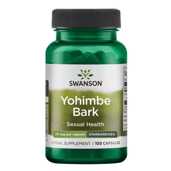 Testosterone | Yohimbe Bark 75mg [100 Viên] - Tăng Hoocmon Nam Và Nữ - Chính Hãng