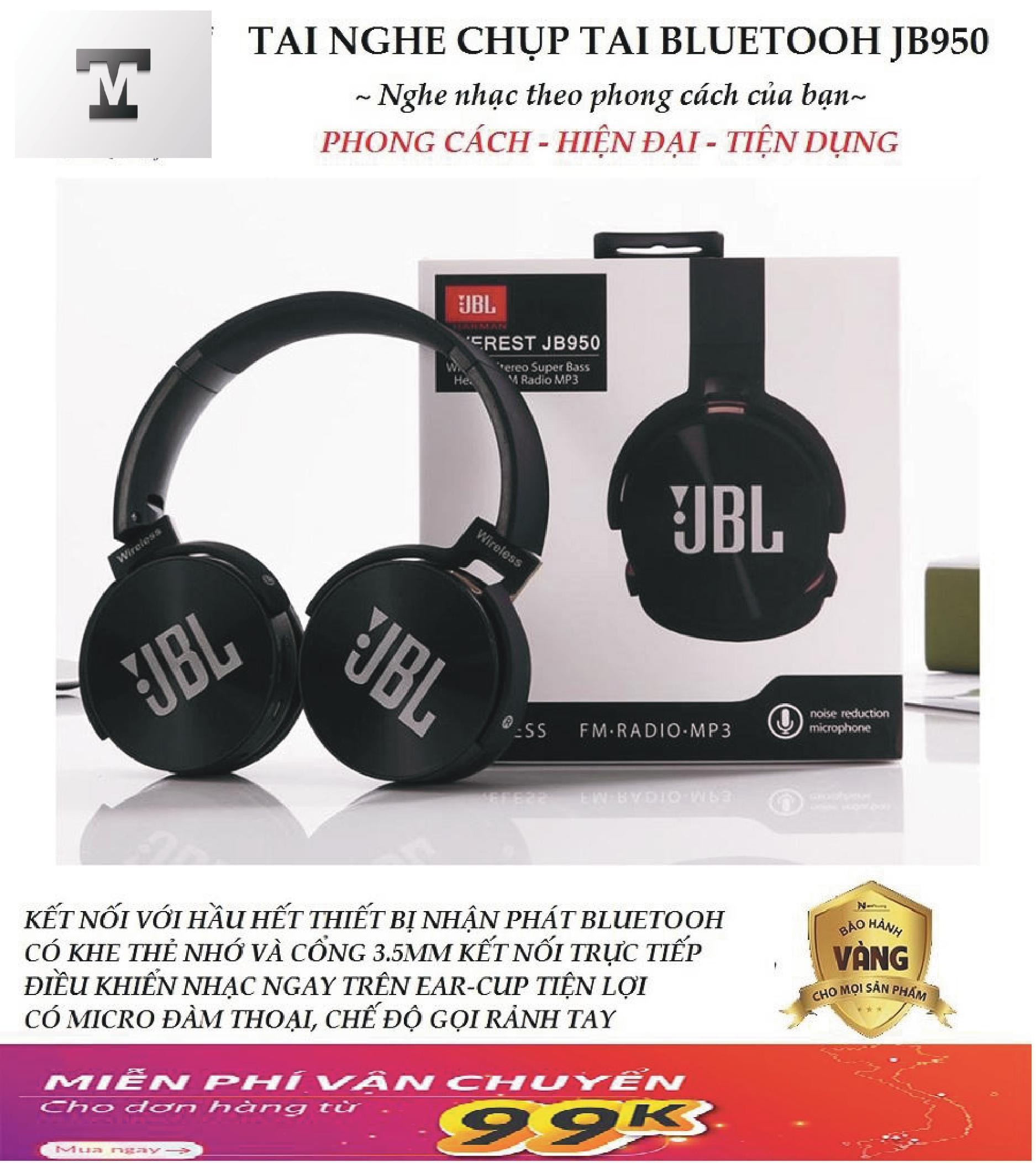 Giá Tiết Kiệm Để Sở Hữu Ngay Tai Nghe Chụp Tai Bluetooth Không Dây JBL JB950 - Wireless Stereo Super Bass Headset MP3 -  Bảo Hành 1 đổi 1