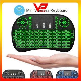 Bàn phím kiêm chuột không dây RT-MWK08 siêu nhỏ có đèn led - VPMAX thumbnail