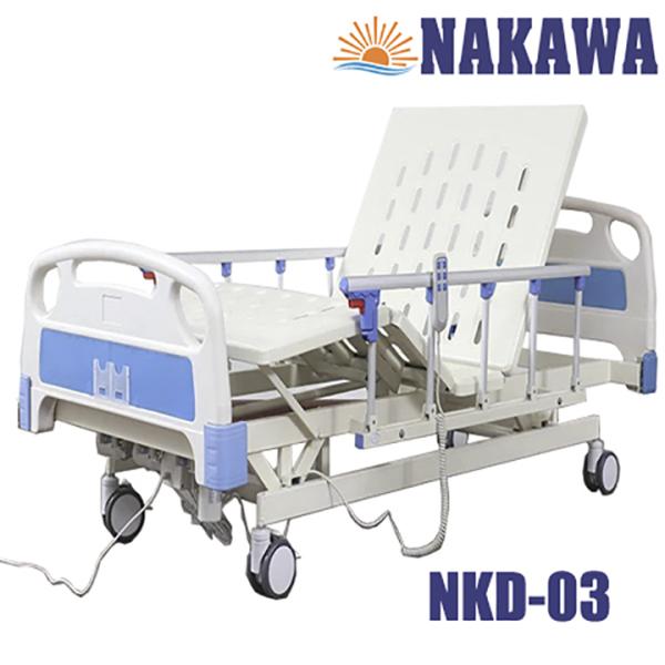 Giường bệnh nhân điện đa năng nâng hạ NAKAWA NKD-03,[Giá 12.790.000], giường y tế điện nâng hạ, giường bệnh viện giá rẻ, giuong benh nhan dien da nang nang ha nakawa nkd-03, giuong y te, giuong benh vien