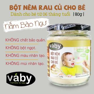 Bột nêm Nấm Bào Ngư dành cho bé ăn dặm VABY 80g - Dành cho bé từ 6 tháng tuổi thumbnail