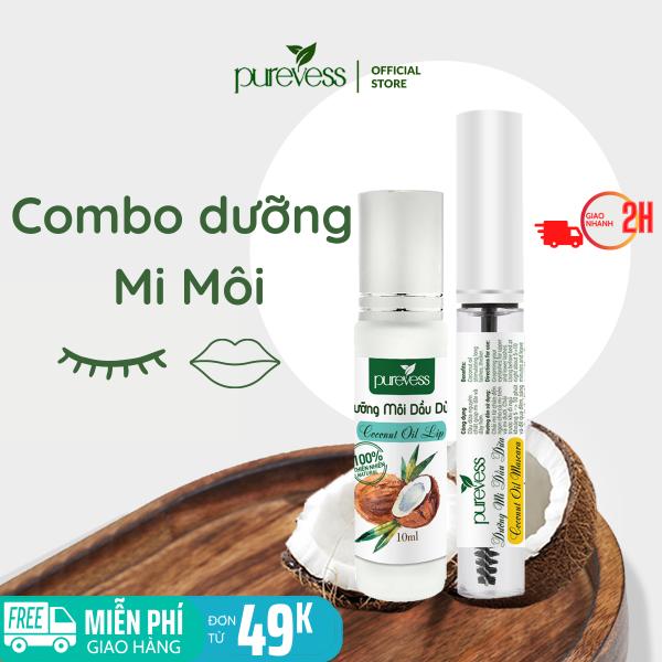 Dưỡng mi dài Purevess - dưỡng mi dầu dừa - dưỡng dài mi - dưỡng môi giá rẻ