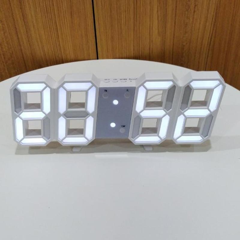 (Tặng Pin & dây cáp) Đồng hồ Để Bàn hoặc Treo Tường Điện Tử 3D - Báo Thức & Đo Nhiệt Độ - VNYDH92 bán chạy