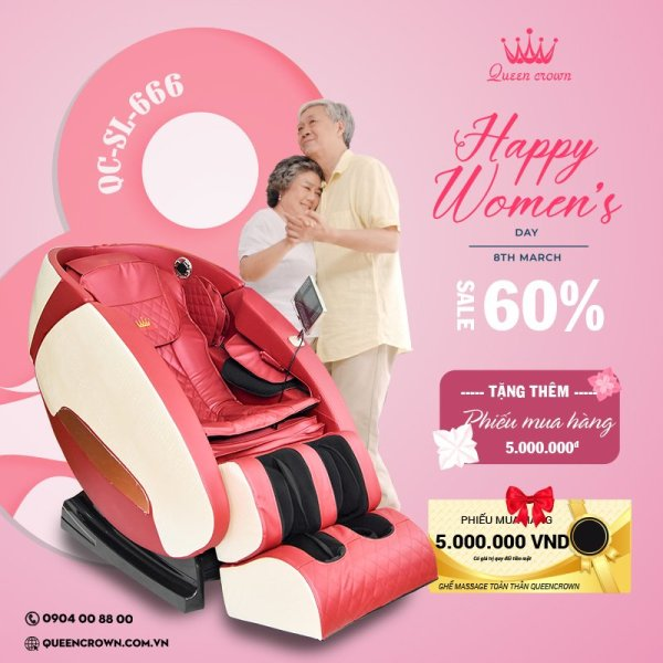 Ghế massage Queen Crown QC SL666