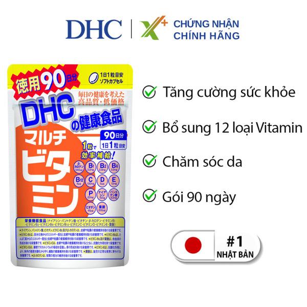Viên uống Vitamin tổng hợp DHC Nhật Bản Multil Vitamins thực phẩm chức năng bổ sung 12 vitamin thiết yếu hàng ngày nâng cao sức khỏe, làm đẹp da 90 ngày XP-DHC-MUL90