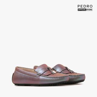 PEDRO - Giày đế bệt nữ mũi tròn Suede Moccasins PW1-65980012-90 thumbnail