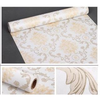 Cuộn 5m decal giấy dán tường châu âu hoa vàng khổ 45cm keo sẵn thumbnail