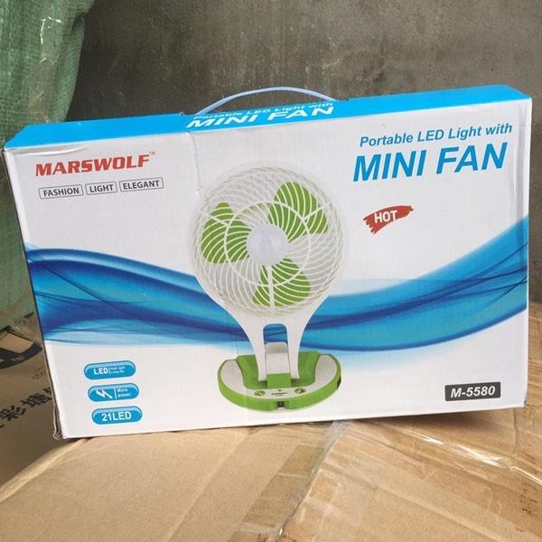 Bảng giá Quạt tích điện Mini Fan 5580 (mẫu) Phong Vũ