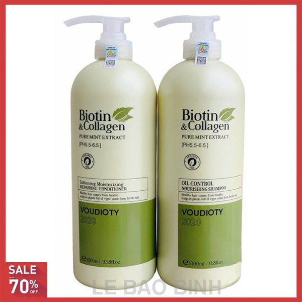 [ HÀNG CHÍNH HÃNG] Cặp dầu gội xả Biotin collagen (Dung tích mỗi chai 1000 ml)[xanh] cao cấp