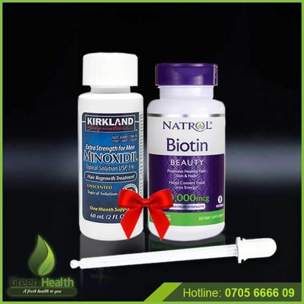 Tiết kiệm combo Minoxidil 5% và Vitamin Biotin