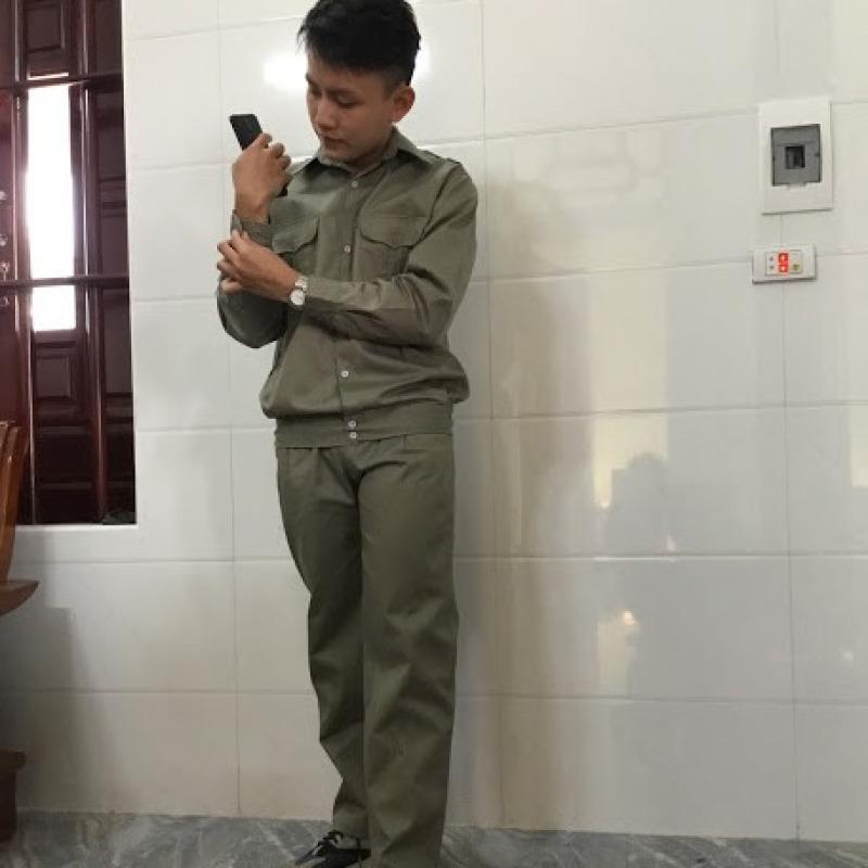 Bộ quần áo đồng phục bảo hộ lao động giá rẻ SHUNI 021QA vải kaki liên doanh loại dày 3.1