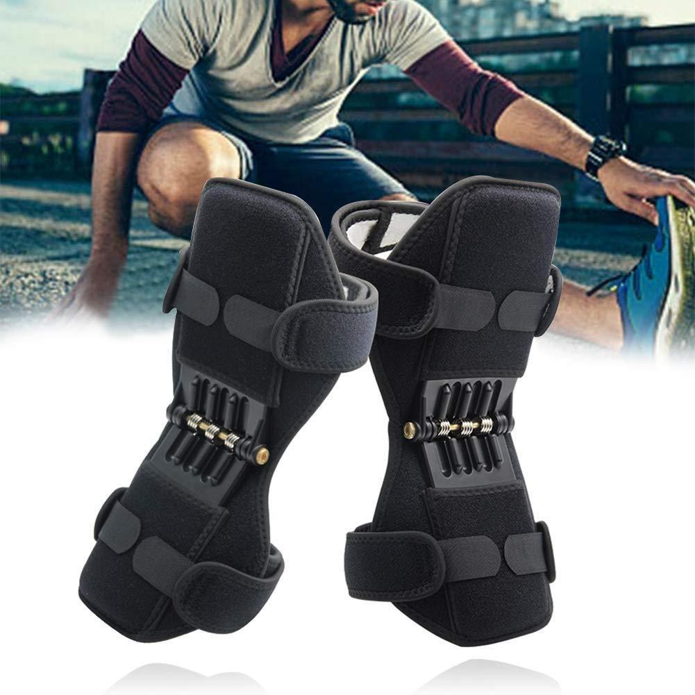 Khung trợ lực cho đầu gối, đai bảo vệ kéo dãn khớp gối, dụng cụ hỗ trợ khớp gối, hỗ trợ nâng đỡ đôi chân giảm áp lực lên đầu gối (Bộ 2 chiếc)