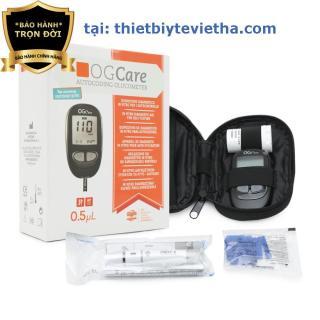Máy đo đường huyết OG Care (nhập Ý) +25 que thử tặng 100 kim+100 bông tẩm cồn thumbnail