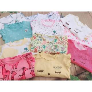 Bộ Thun Cotton Mặc Mát Cho Bé Gái 4-8kg - Giao Màu Ngẫu Nhiên thumbnail