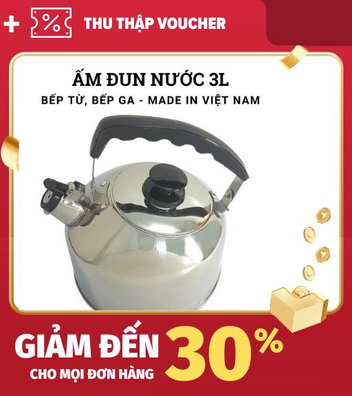 Ấm đun nước bếp từ 5l ấm đun nước siêu tốc đun nhanh sôi còi báo khi sôi. Sản xuất tại Việt Nam