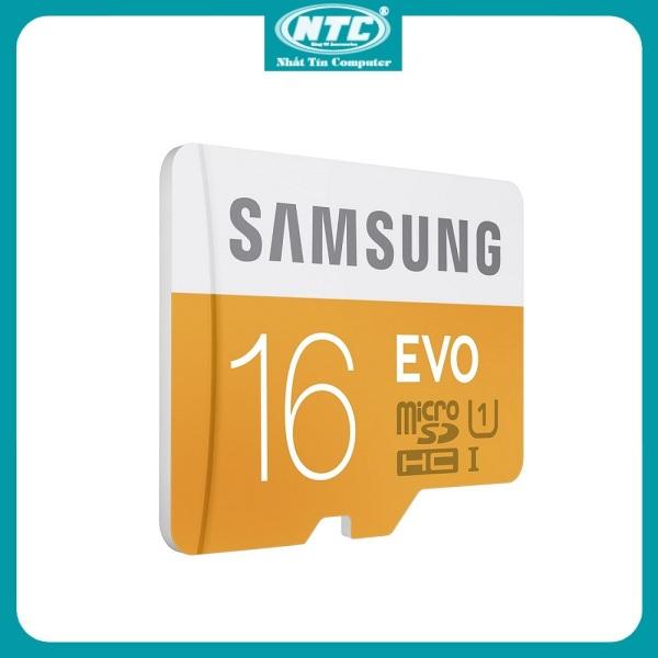 [Nhập ELAPR21 Giảm 10% đơn từ 99K, Max 200K] Thẻ Nhớ MicroSDHC Samsung Evo 16gb UHS-I U1 80MB/s Không box (Cam) - Nhất Tín Computer