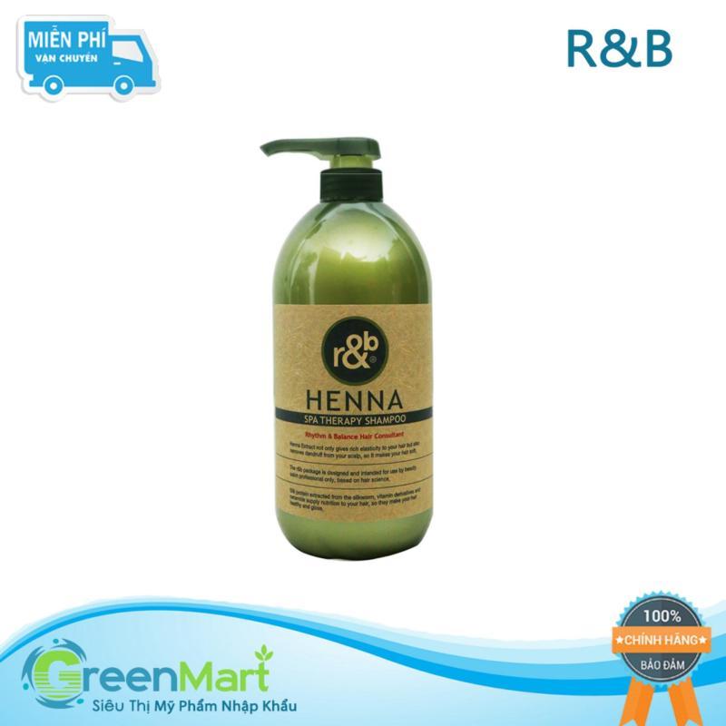 Dầu gội thảo dược ngăn rụng tóc cấp ẩm dưỡng tóc phục hồi tóc tạo bóng mềm mọc tóc nhanh R&B Henna Shampoo, HQ 1000ml giá rẻ
