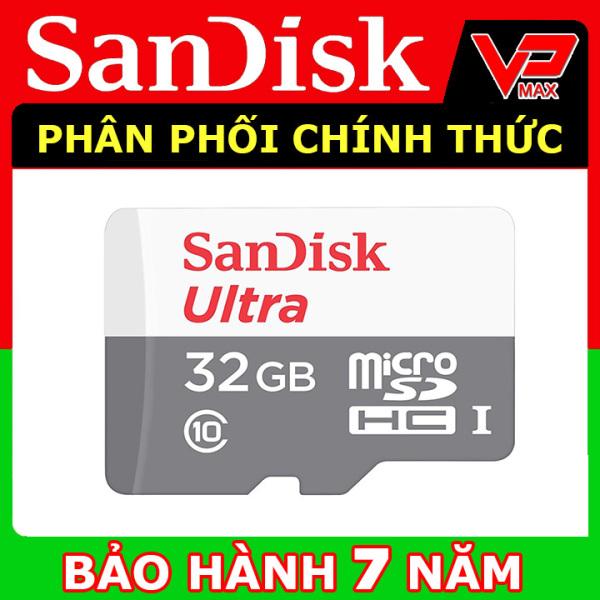 [FS] Thẻ nhớ Micro SDHC 32GB - 16GB SanDisk Ultra Class 10 - 80Mb/s dùng cho điện thoại, camera - vpmax
