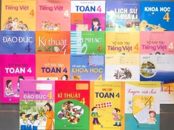 Mua [Trọn bộ] Bộ sách giáo khoa lớp 4 + Sách vở bài tập lớp 4 (19 quyển)