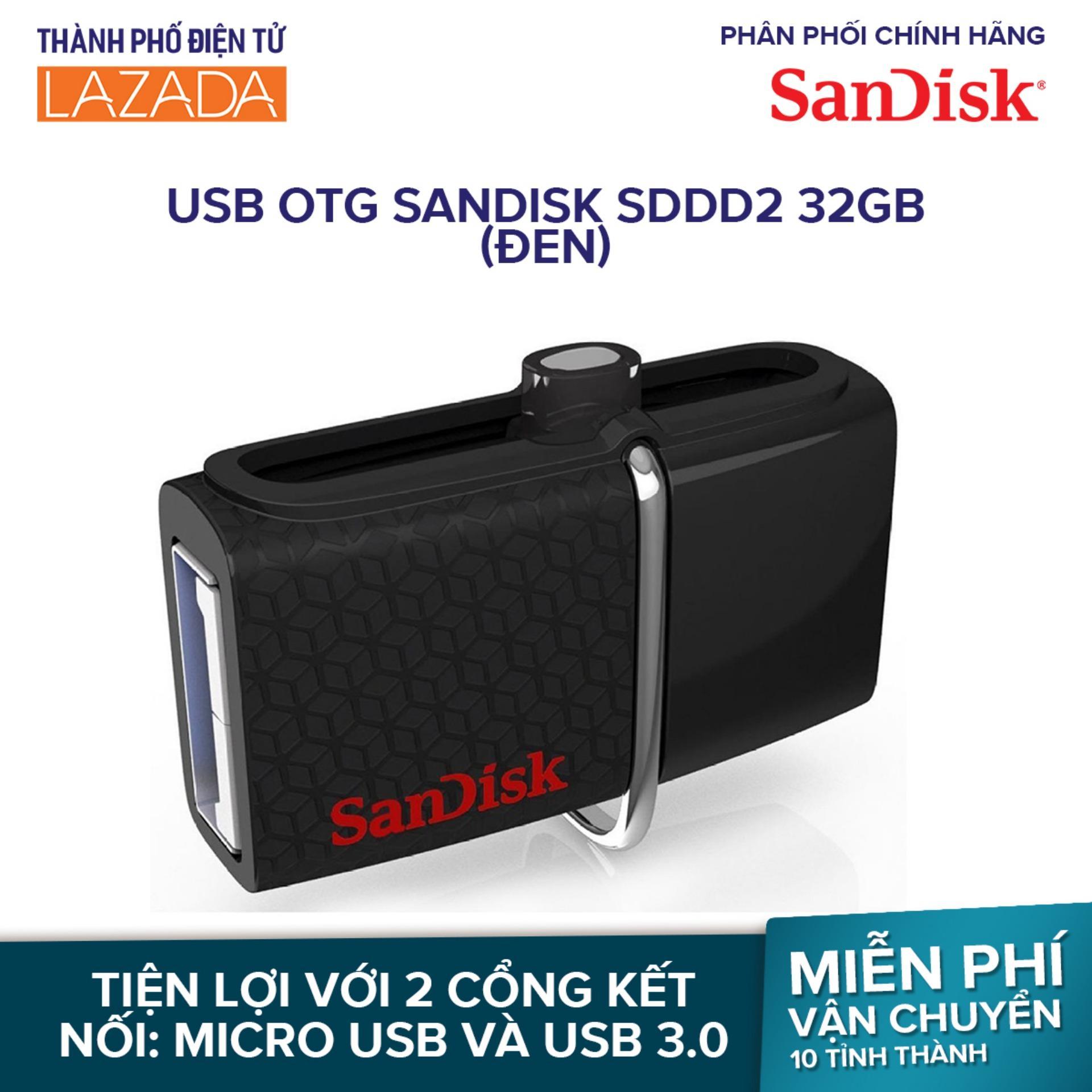 USB OTG Sandisk SDDD2 32GB (Đen) - Hãng phân phối chính thức