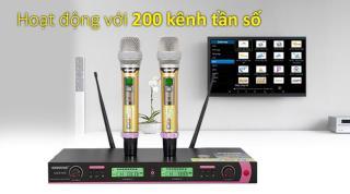 [ Giá Hủy Diệt ] Combo Đầu Thu Karaoke Hàng Bãi, Micro Shure Giá Rẻ, Micro Shure Ugx10 II Cao Cấp, Kiểu Dáng Sang Trọng, Chất Âm Tuyệt Hảo, Chống Hú Rít Ồn, Mang Đến Trải Nghiệm Tuyệt Vời, Cảm Biến Tự Động Ngắt, Dùng Là Thích. thumbnail