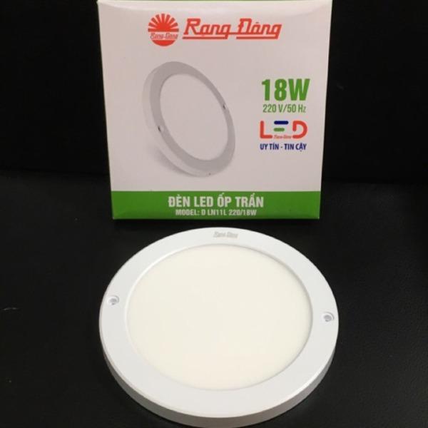 Đèn LED Ốp Trần Cảm Biến Tròn Mỏng Rạng Đông 18W, Cảm Biến RADAR, ChipLED Samsung Model: D LN11L