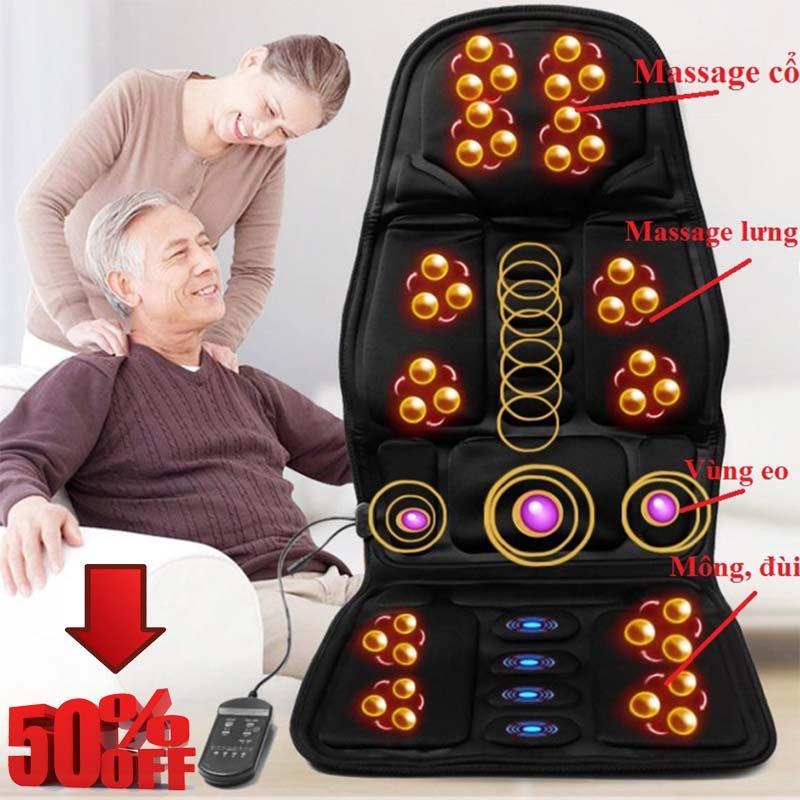 Nệm (Đệm) Massage Toàn Thân Elip - Ghế Mát Xa Đa Năng Toàn Thân Giảm Stress, Lưu Thông Khí Huyết, Giảm đau Nhức Toàn Cơ Thể Siêu Tiết Kiệm