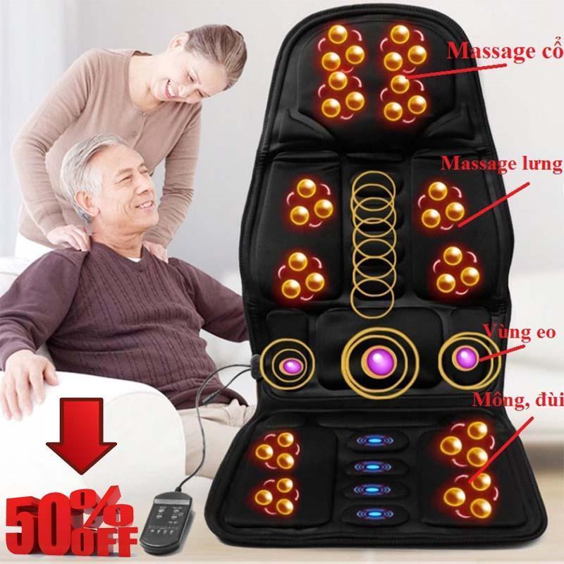 Nệm (Đệm) massage toàn thân Elip - Ghế Mát Xa Đa Năng Toàn Thân giảm stress, lưu thông khí huyết, giảm đau nhức toàn cơ thể