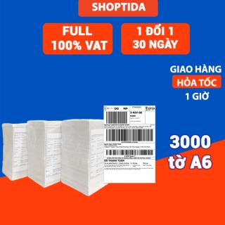 Giấy in nhiệt Shoptida 3000 tờ A6 10 15cm 3 lớp tự dán chống nước, sử dụng cho máy in nhiệt Shoptida SP46 thumbnail